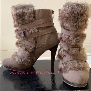 Material girl furry booties